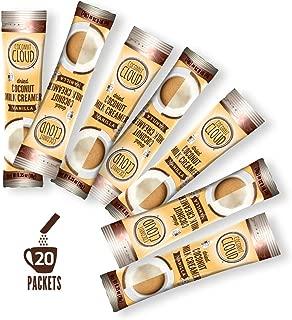 Coconut Cloud: Vanilla Unsweetened Coffee Creamer ~ Improved Recipe '19 | Coconut Powdered Milk + MCT Oil. Minimally Processed (Vegan, Plant Based, Non-GMO, Gluten, Soy Dairy Free), 20 sticks
