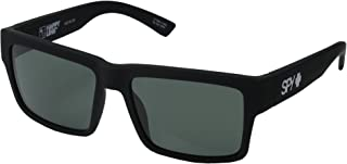 Spy Optic Montana Sunglasses Matte Black w/Happy Grey Green Lens + Sticker