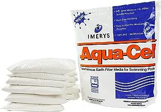 AQUA-CEL Diatomaceous Earth Pool DE Filter Powder – Zero Dust, Diatomaceous Earth Powder – DE Earth Swimming Pool Filter Media (12lb Bag of 12, 1lb Water Soluble Pouches for 120sqft)