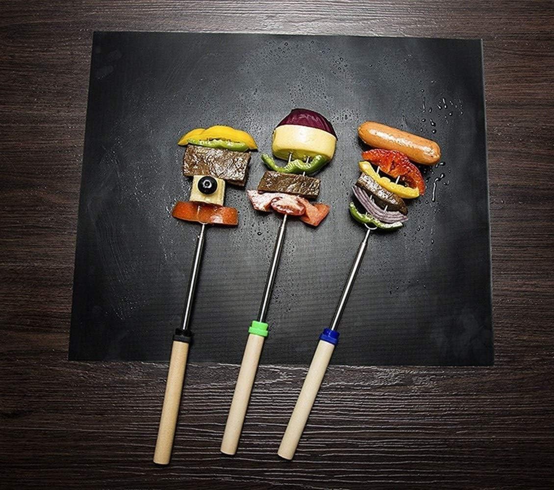 40x33 / 50cm 3pcs Non-adhésif Réutilisable BBQ Grill Mat 0.2mm Épaisseur PTFE Barbecue Cuisson Au Four Teflon Cook Pad Four À Micro-ondes Outil (Color : 40x33cm) 40x33cm
