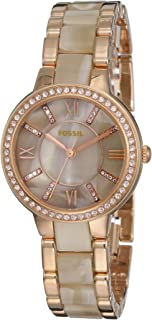 Fossil Womens Quartz Watch, Analog Display and Stainless Steel Strap