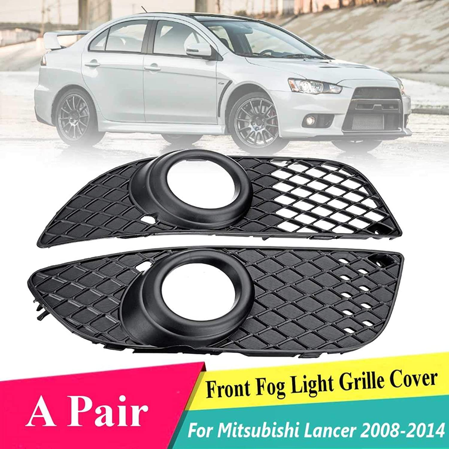 Gift4Car  for Mitsubishi Lancer 2008 2009 2011 2012 2013 Pair Car ABS Front Bumper Fog Light Grille Covers 20148321A089 8321A123