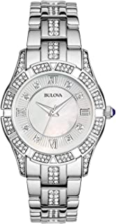 Women's 31mm Mother of Pearl Crystal Stainless Steel Watch