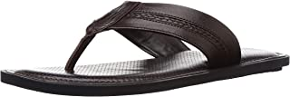 BATA Men's Berry Brown Leather Hawaii Thong Sandals-8 UK/India (42 EU) (8743993)