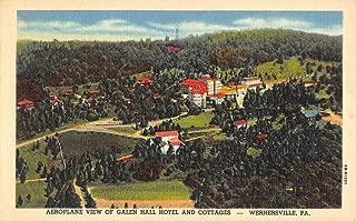 Wernersville Pennsylvania Galen Hall Hotel Birdseye View Antique Postcard K57869