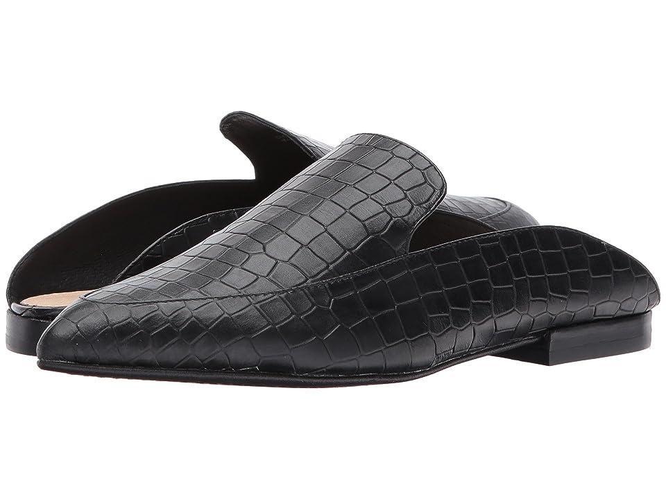 Kristin Cavallari Capri Mule (Black Croco Leather) Women