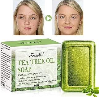 Tea Tree Oil Soap, Facial Soap, Acne Soap, Natural Soap Cleanse Face & Body, Anti Acne/Anti Blackhead/Anti Pimple & Pore Cleaner, for All Skin Type