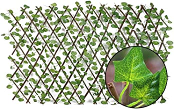 Omheining van de tuin Decoratie Privacy Hout Met Artificial Green Leaf Retractable Uitbreiding Schermen for Courtyard Home...