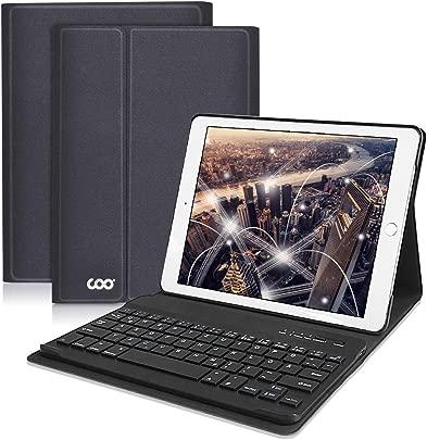 COO iPad H lle Tastatur QWERTZ f r 9 7 Zoll iPad 2018 2017 iPad Pro 9 7 iPad Air 2 1 iPad Bluetooth Keyboard Case mit Mulit-Angle- St nder-Funktion Und mit Auto Schlaf Wachen Schwarz grau Schätzpreis : 36,99 €