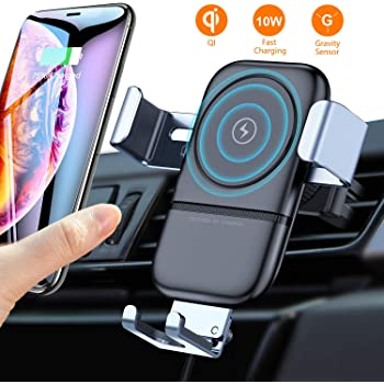 LG 15W Qi Wireless Charging Certified Google and More Samsung Galaxy Freedy Automatic Smartphone Mount Holder Fast Charger for Car Dashboard Air Vent Windshield Automatic Clamp for iPhone