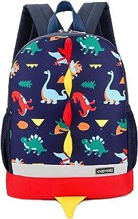 Dinosaurios Mochila para Niños Infantil Guarderia Mochila Escolar (Azul Oscuro)