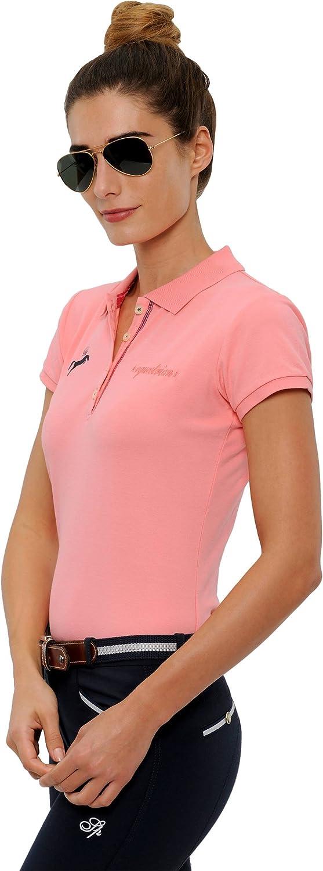 Damenpoloshirts Pailletten Kurzarm Nicky XS-XL SPOOKS Poloshirt Damen M/ädchen Kinder Polo Shirt tailliert Sommer Tshirt Hemd Sport