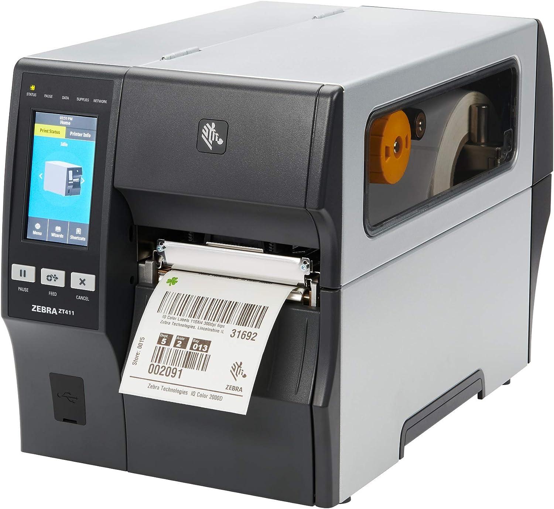 Zebra ZT411 Thermal Transfer Industrial Printer 203 dpi Print Width 4 in Serial USB Ethernet Bluetooth WiFi ZT41142-T01A000Z