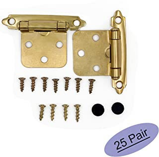 Brass Cabinet Hinges Face Mount Self Closing Kitchen Cabinet Hinges - Goldenwarm Variable Cabinet Overlay Hinges SCH30BB-25Pair