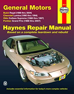 FWD models of Buick Regal (88-04), Chevrolet Lumina (1990-1994), Olds Cutlass Supreme (88-97), & Pontiac Grand Prix (88-07) Haynes Repair Manual
