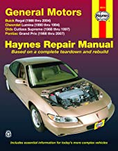 FWD models of Buick Regal (88-04), Chevrolet Lumina (1990-1994), Olds Cutlass Supreme (88-97), & Pontiac Grand Prix (88-07) Haynes Repair Manual