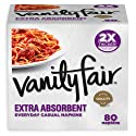 Vanity Fair Everyday Extra Absorbent Premium Paper Napkin, 80 Count, Dinner Napkin for Messy Meals