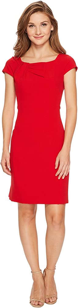 Tahari by ASL - Petite Sheath with Shoulder Detail Dress