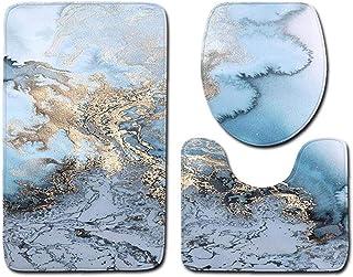 Nicedier 3pcs / Set de mármol Piedra del adoquín Antideslizante Absorbente de Agua de la máquina Lavable Alfombra de baño ...