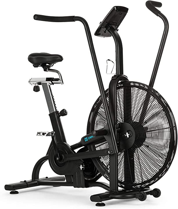 Cyclette, cardio trainer, resistenza alla ventilazione, capital sports strike bike FIT17-90300-ashe