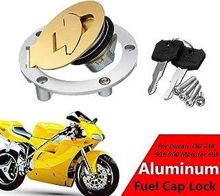 Aluminum Gas Fuel Tank Cap Lock with 2 Keys for Ducati 750 748 996 900 Monster 695 1995-2003
