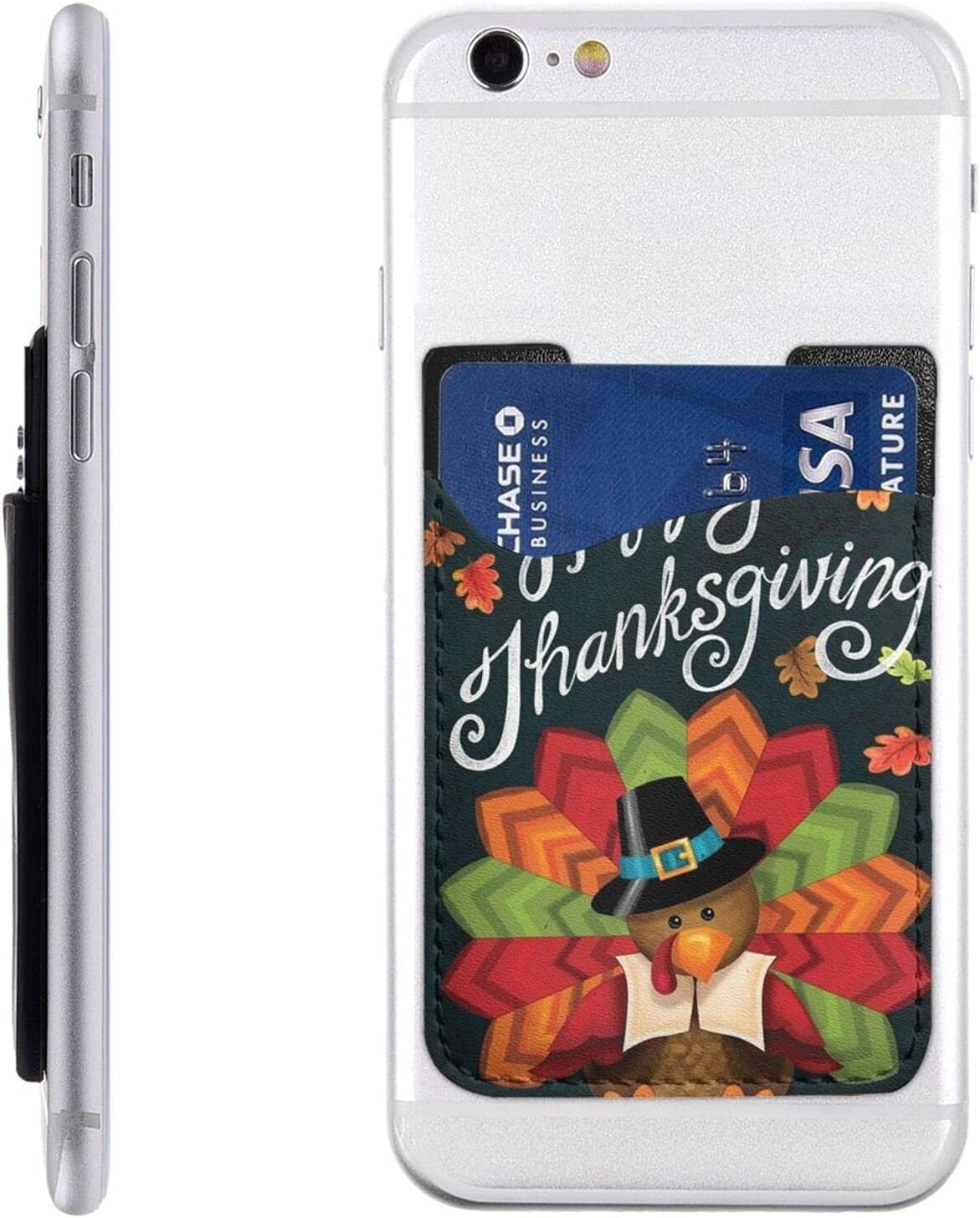Happy Thanksgiving Turkey outlet Phone Card Holder Max 44% OFF On Cell Stick