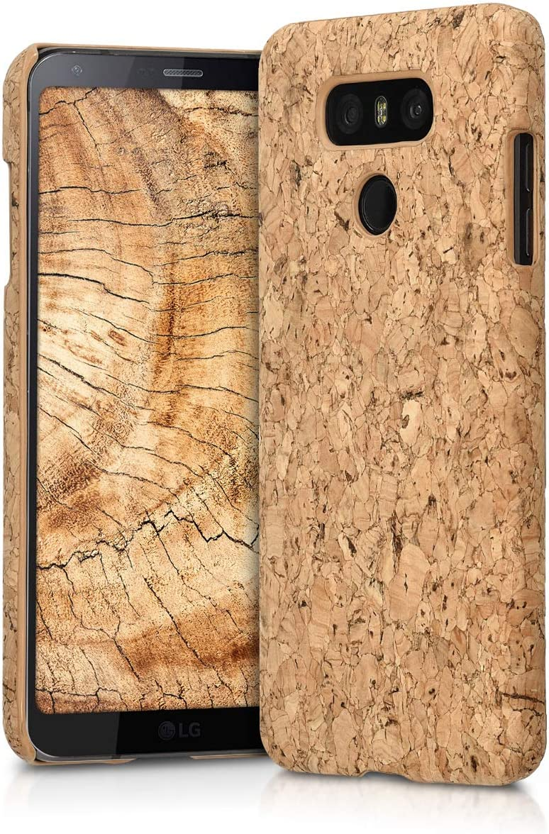 kwmobile Case Compatible with LG G6 - Case Protective Cork Mobile Cell Phone Cover - Light Brown