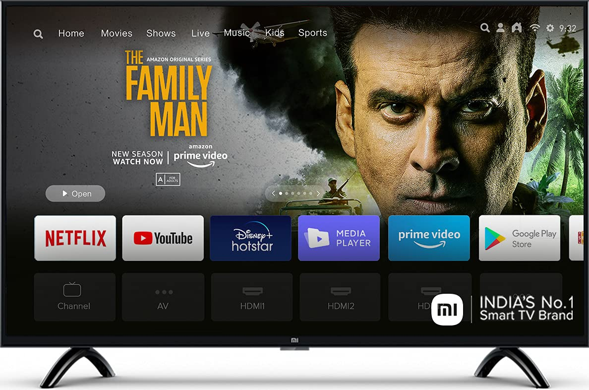 Mi 80 cm (32 inches) HD Ready Android Smart LED TV 4A PRO   L32M5-AL (Black) 1