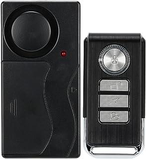 KKmoon Alarma Sensor de Vibración Detector Inalámbrico Control Remoto Seguridad Puerta Ventana para Coche con Mando