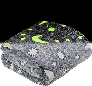 Glow in The Dark Throw Blanket for Kids - Fun, Cozy...