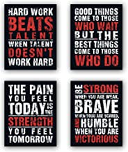"HPNIUB Funny Game Art Print Inspirational Words Quote Poster Set of 4 (10 ""X8 ""Canvas Gaming Wall Art for Kids Boy Bedroom..."