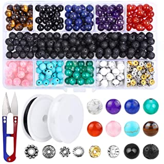 8mm Assorted Round Cat Eye Beads Loose Gemstone Energy Healing Beads for Jewelry Making 10 Strands 470-500pcs