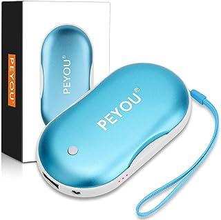 comprar comparacion PEYOU Calentador de Manos USB Recargable, 5200mAh Banco de Energía Portátil con Luz LED Función de Iluminación, Calentador...