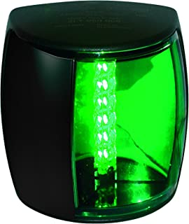 HELLA 959908001 '9908 Series' NaviLED PRO Multivolt 9-33V DC 2 NM LED Starboard Navigation Light with Colored Outer Lens and Black Shroud