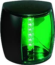 HELLA 959908001 '9908 Series' NaviLED PRO Multivolt 9-33V DC 2 NM LED Starboard Navigation Light with Colored Outer Lens and Black Shroud