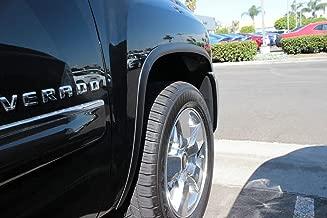 Carrichs 2007-2013 Chevrolet Silverado 1500 / 2500HD Matte Black Stainless Steel Fender Trim