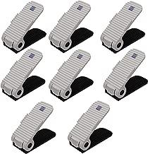 Store2508® Adjustable Shoe Slots Organizer, Shoe Storage Rack Space Saver Rack Holder. (Pack of 8 White)