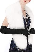 Yetagoo Winter Faux Fur Scarf Wrap Collar Shrug for Coat Wedding Evening 1920s Party