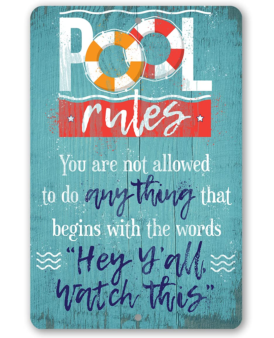 Metal Sign - Pool Rules Indoor Outdoo Durable Selling and selling Dealing full price reduction Use