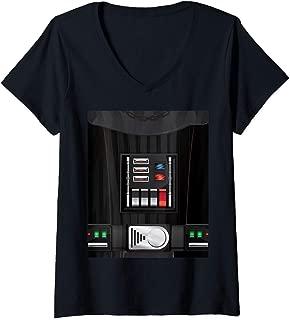 Womens Star Wars Darth Vader Halloween Costume V-Neck T-Shirt