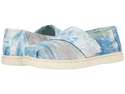 TOMS Kids Alpargata (Toddler/Little Kid) (Plant Dyed Grey Multi Tie-Dyed Canvas) Kid