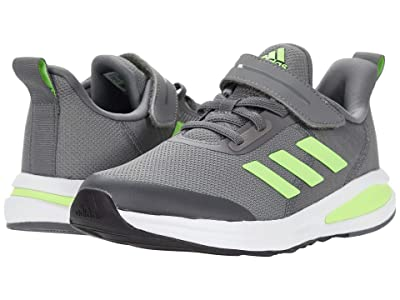 adidas Kids FortaRun EL (Little Kid/Big Kid) (Grey Four/Signal Green/Footwear White) Boys Shoes