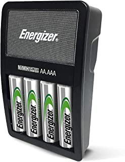 Energizer Rechargeable AA and AAA Battery Charger (Recharge Value) with 4 AA NiMH..