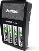 Energizer Rechargeable AA and AAA Battery Charger (Recharge Value) with 4 AA NiMH Rechargeable Batteries - Packaging May Vary