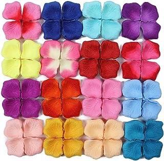 LAVALINK Rose Artificiales Pétalos De Pétalos De Decoración Romántica para 1000pcs Día Confeti Tabla De La Boda del Día De...