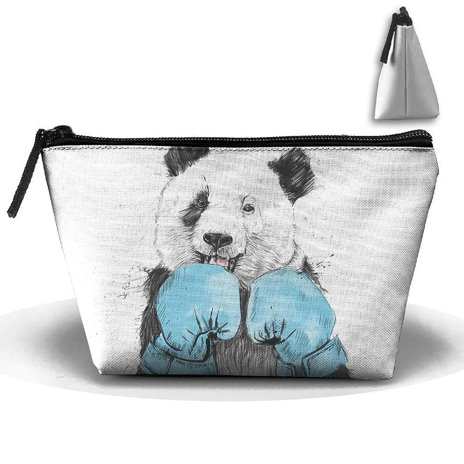 Travel Cosmetic Bags Boxing Panda Small Makeup Bag Multifunction Pouch Cosmetic Handbag Toiletries Organizer Bag for Women Girl