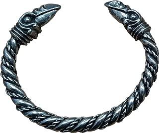 Odin's Raven #1 (Hugin & Munin - Thought & Memory) Pewter Bracelet, Viking Pagan Gothic