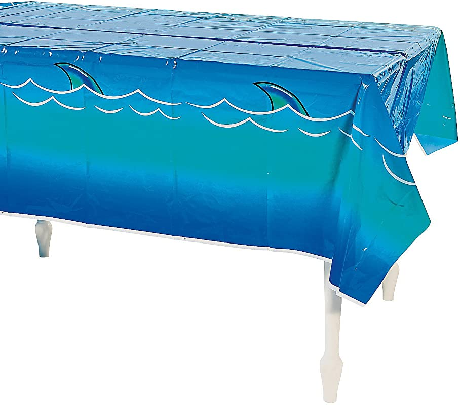 Fun Express Jawsome Shark Tablecover For Party Party Supplies Table Covers Print Table Covers Party 1 Piece