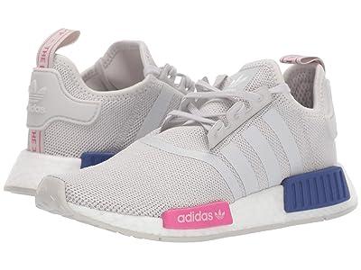 adidas Originals Kids NMD_R1 J (Big Kid) (Grey/Shock Pink) Kids Shoes
