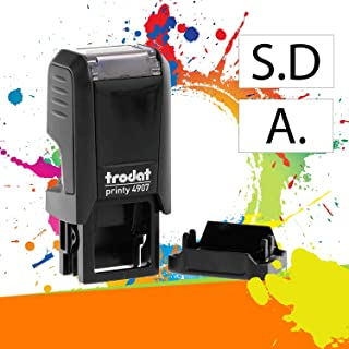 Trodat Printy 4907 - Tampon Encreur Professionnel 1 ligne À Personnaliser - Empreinte 13 x 6 mm Offerte (Noir)